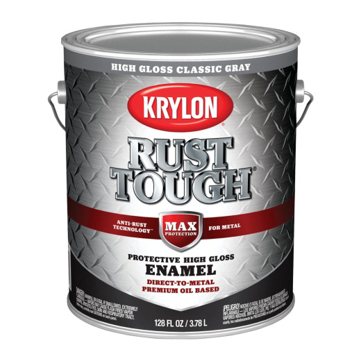 Valspar Anti-Rust Oil-Based Gloss Armor Rust Control Enamel, Gray, 1 Gal.