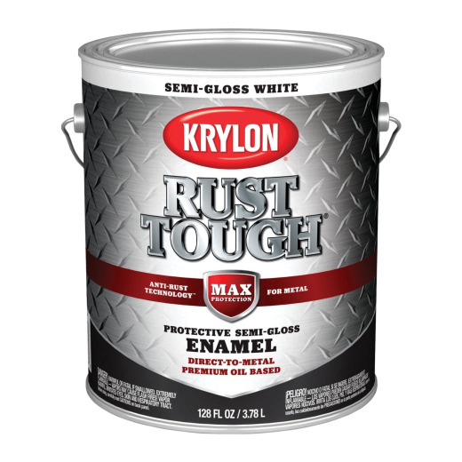 Valspar Anti-Rust Oil-Based Semi-Gloss Armor Rust Control Enamel, White, 1 Gal.