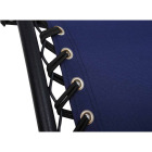 Outdoor Expressions Zero Gravity Relaxer Blue Convertible Lounge Chair Image 6